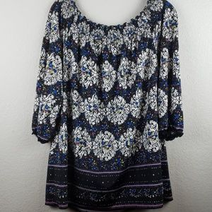 INC   Women's 3/4 Sleeve Pull-On Top Size Large
